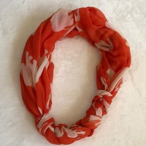 Francesca's Orange Scarf